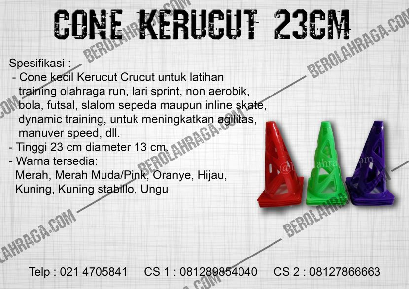 Cone Kerucut 23cm | 08127866663