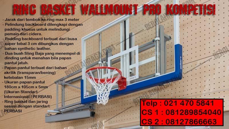 Ring Basket Wallmount Pro Kompetisi, Produsen, Agen Perlengkapan Olahraga, beladiri, distributor, supplier, pusat, importir, Jakarta, Bandung, Bekasi, Bogor